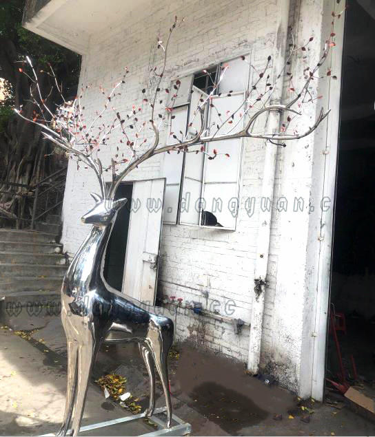 High Polished Stainless Steel Deer Sculpture Manufacturers ,Stainless Steel Mirror Animal