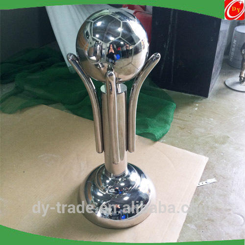 Soccer League Polished Stainless Steel Trophies