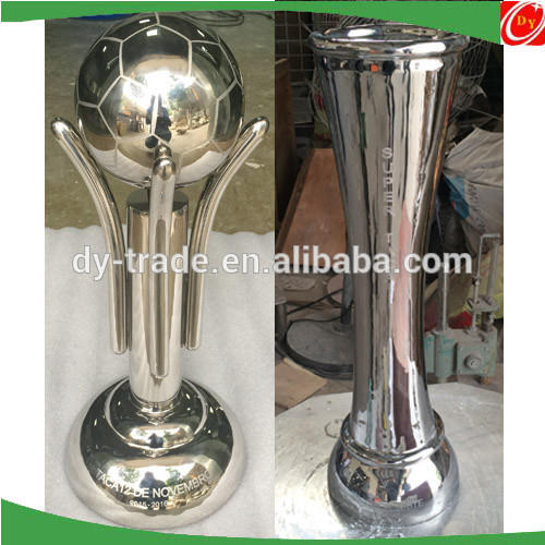 New Customized design stainless steel trophy/cup , stainless steel football trophy sculpture