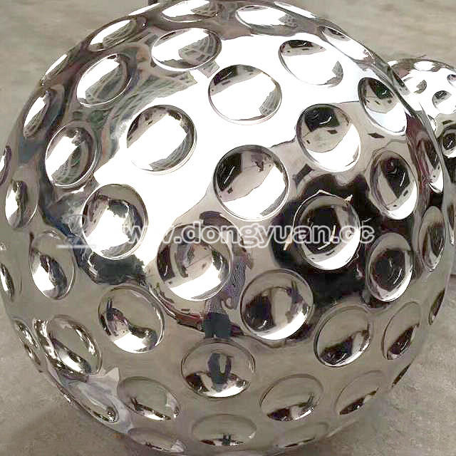 Stainless Steel Large Outdoor Golf Ball Art Work