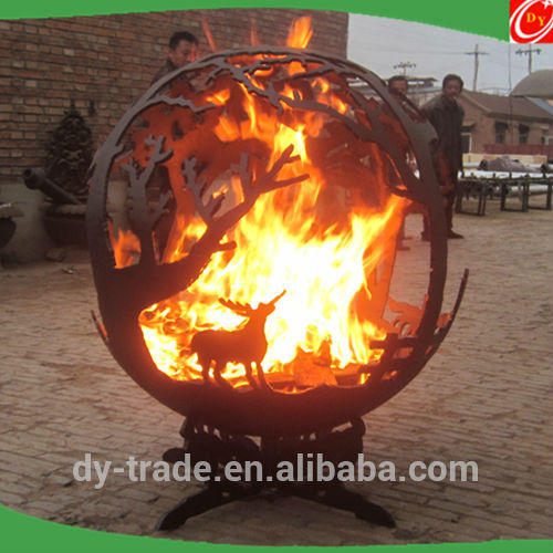 Decorative Outdoor Handcrafted Custom Fire Steel Sphere Pits