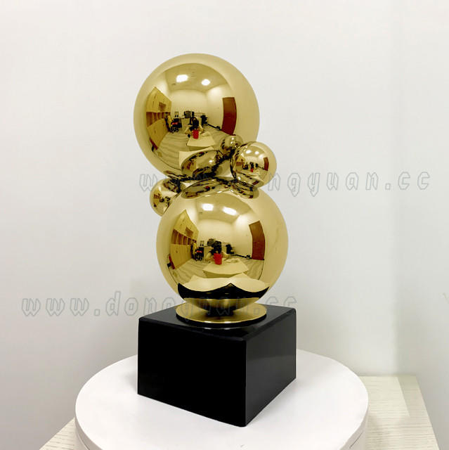 Stainless Steel GoldenArtwork for Hotel Museum Display Decoration