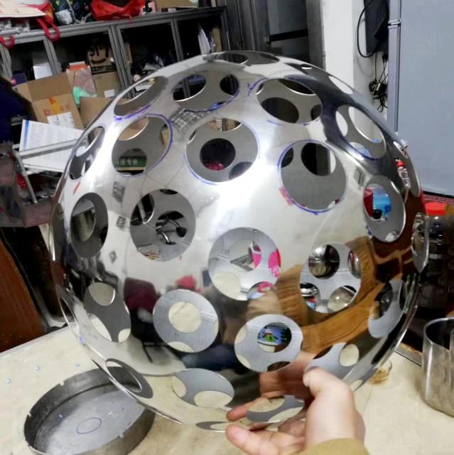 LaserEngravedStainless SteelDecorativeArtworks Sphere