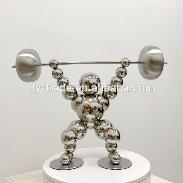 Stainless Steel Wall Art Sculpture, Metal Table Crafts Hotel Decoration
