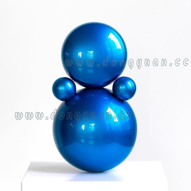 Stainless Steel Bule Sphere ArtworksMetal Artistic Ornament for Hotel