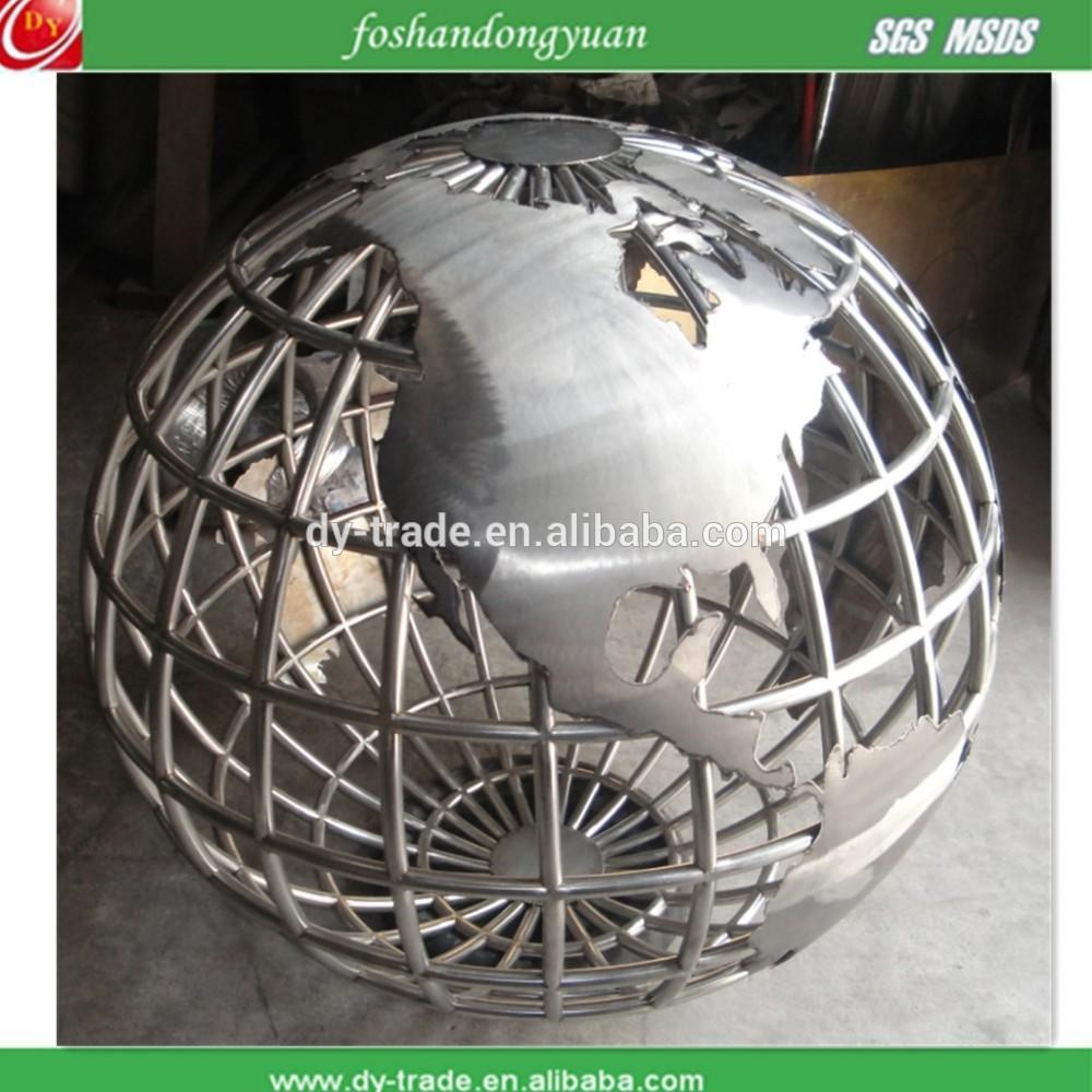 Globe stainless steel sculpture