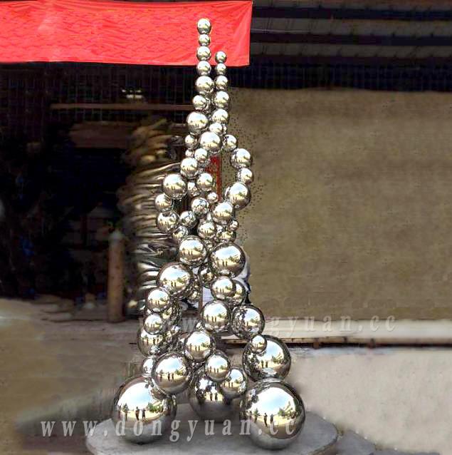 Metal Ball Artwork , Gazing Ball Sculpture, Steel Ball for Cityscape