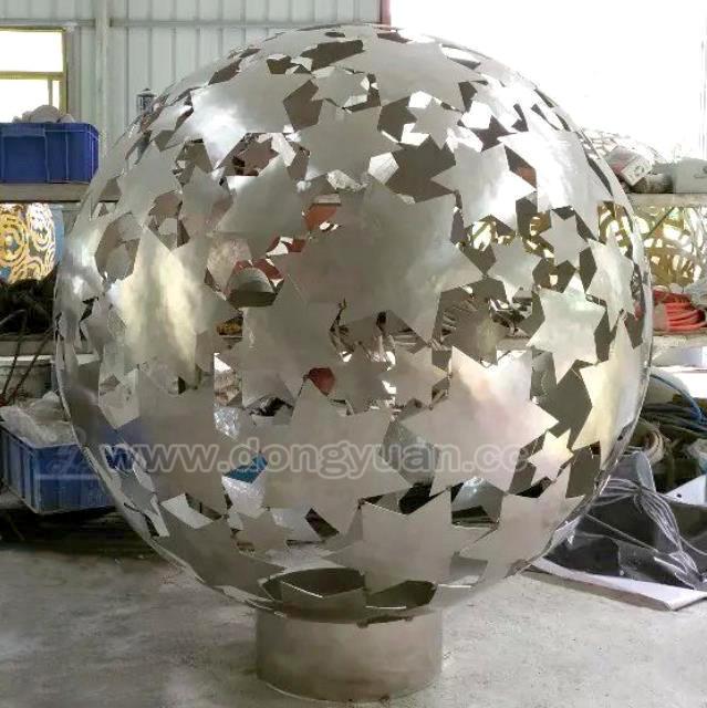 Stainless Steel Art Sculpture, Metal Balls Lantern for Villa Decoration