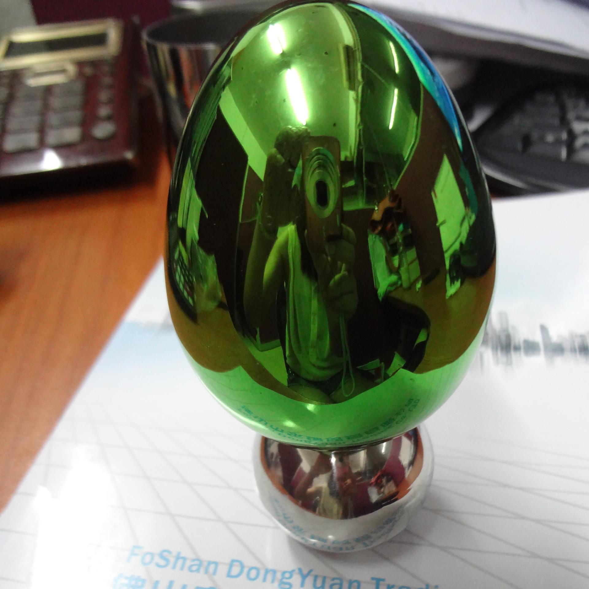 Mirror Polished Decorative Egg of Metal