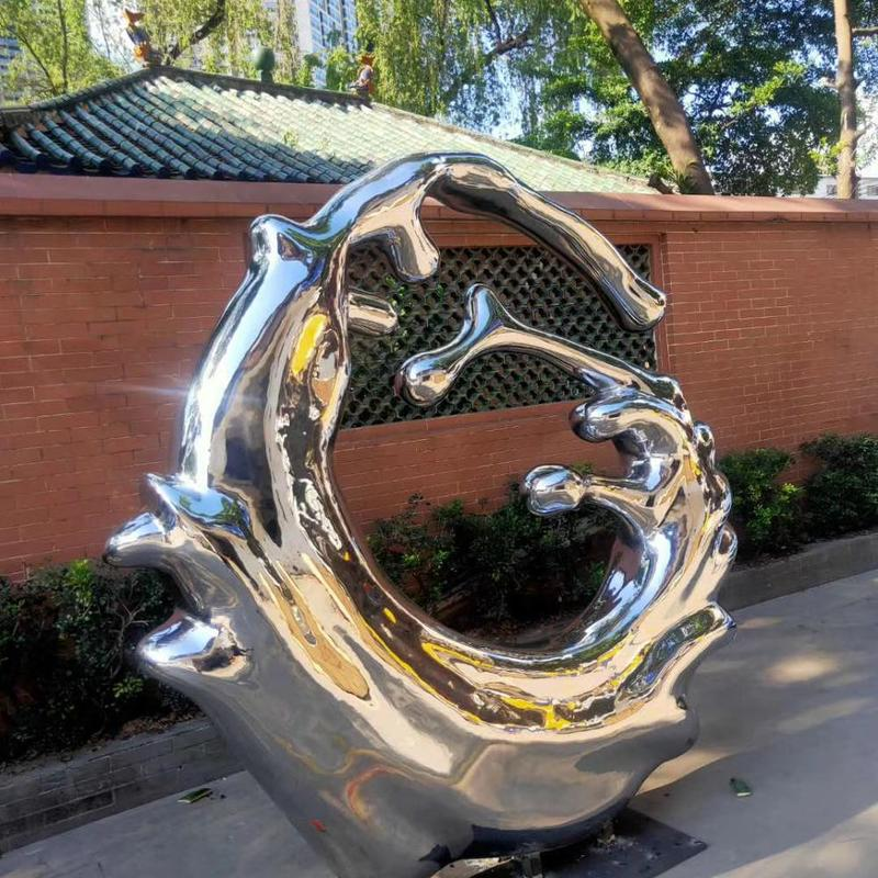 Stainless Steel Wave Sculpture Outdoor Sculpture