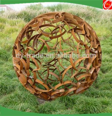 Corten Steel Iron Sculpture For Garden Park Decoration