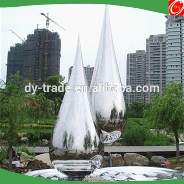 stainless steel mirror polished water decoration ball sculpture
