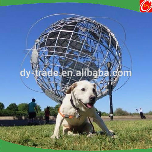 Rotating world map stainless steel sphere sculpture decoration hollow-carved sphere