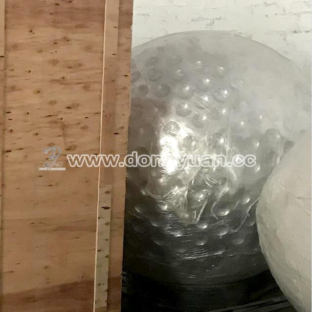 Inox Steel Golf Ball Water Fountain Outdoor , Stainless Steel Art Sculpture Construction