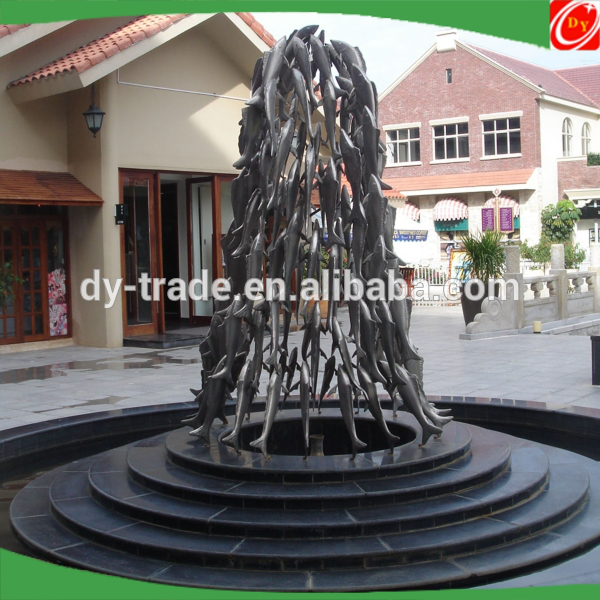 Modern Large Fishs Arts animals outdoor decoration stainless steel metal abstract garden outdoor sculpture