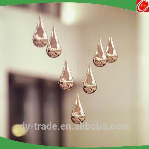 Modern Outdoor Stainless Steel Rain Drop Sculpture