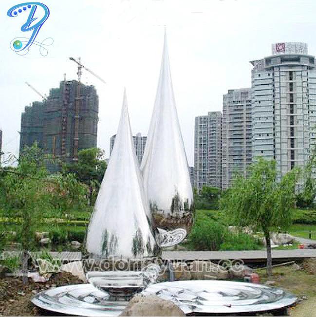 Inox Steel Garden Sculpture/Stainless Steel Water Drop