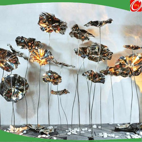 Flower Lotus Metal Stainless Steel Sculpture