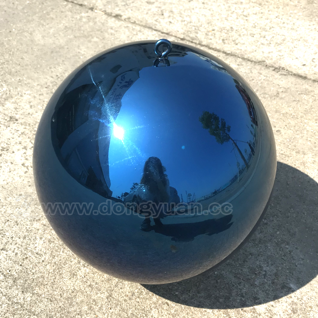 Mirror Polished Stainless Steel Stone Sculpture for Outdoor Decoration