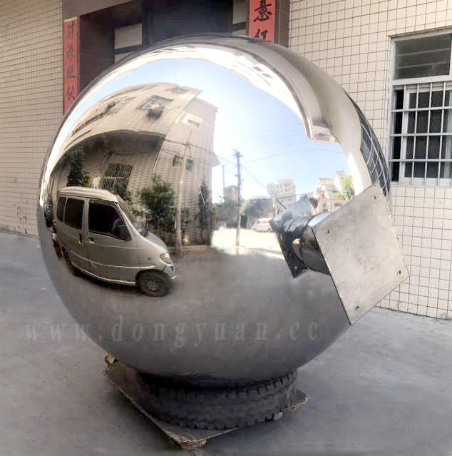 2 MeterLarge Stainless Steel Spheres Sculpture with Pipefor Garden, Christmas, Arwtwork Porject Decoration