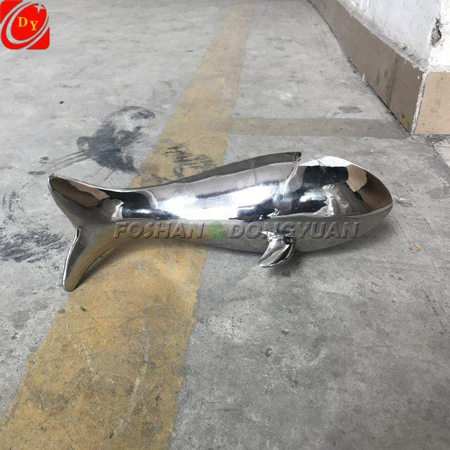 Stainless Steel Polished Metal Fish Bird Decoration Sculpture