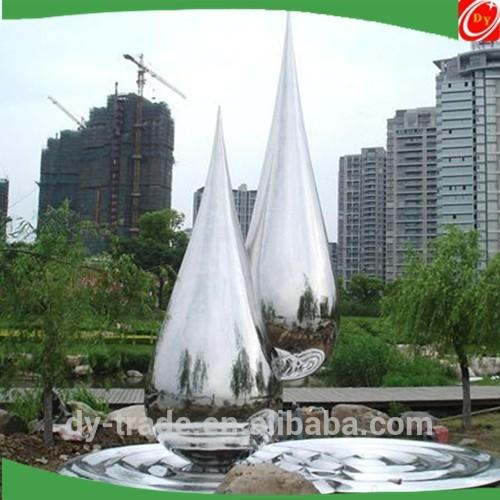 Large stainless steel water drop sculpture for garden/park decoration