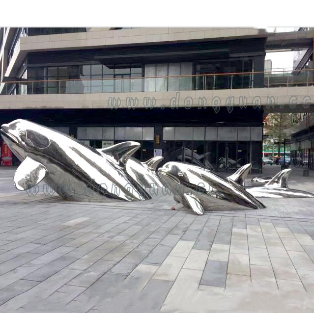 Polished Stainless steel FishArtwork for Outdoor Display Decoration