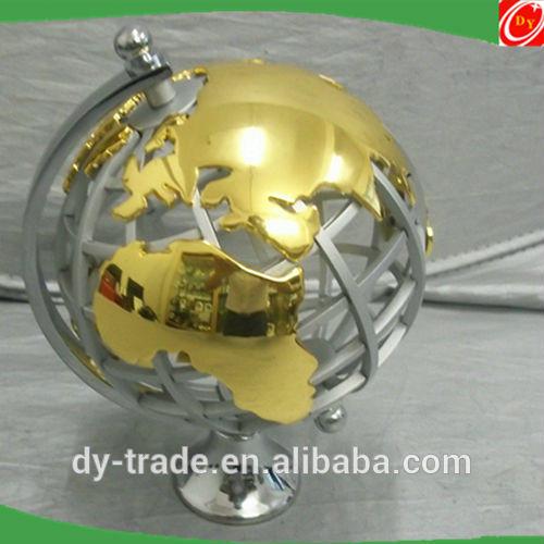 indoor office golden collectible steel world globe ball sculpture