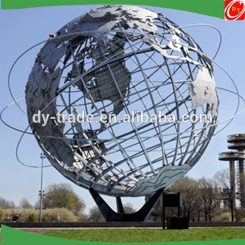 large globe sculpture