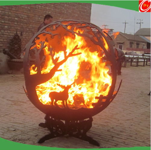 Hot sell outdoor carbon steel fire pits ,steel sphere fire pits
