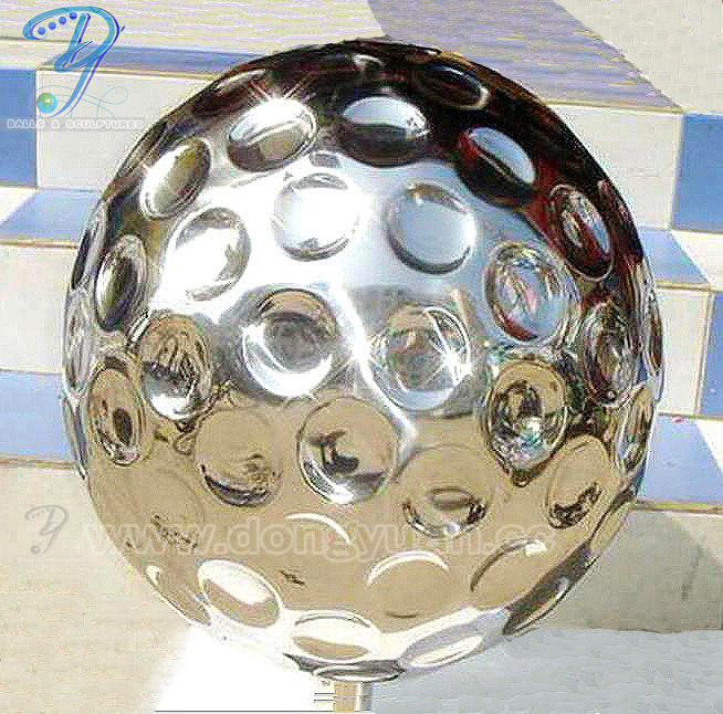Hollow Stainless Steel Golf Sphere Sculpture for Golf Decoration
