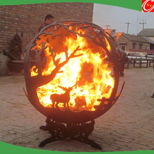 Decorative Outdoor Iron Mild Steel Fire Pits Sphere Ball/Winter Garden Ball