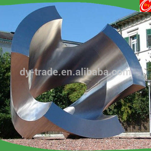 Outdoor Eye-catching Large Decorative Stainless Steel Abstract Sculpture