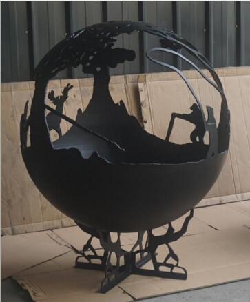 Steel Garden Yard Ornament Spherical Firepits