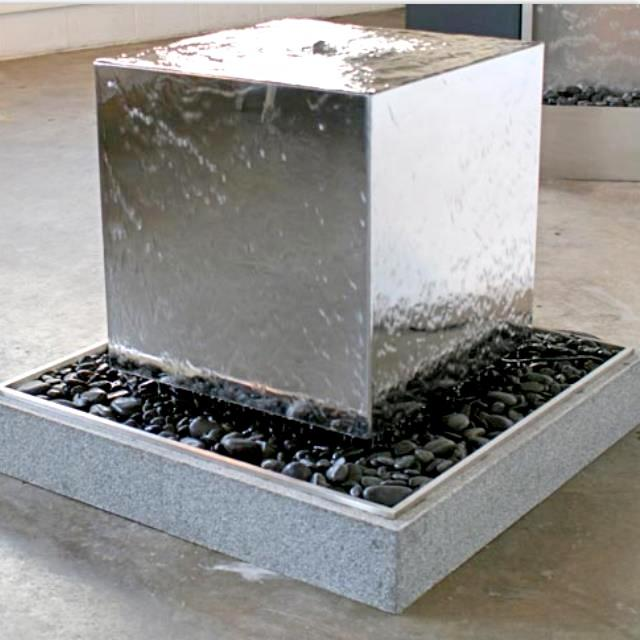 Stainless Steel Cube for Water Feature