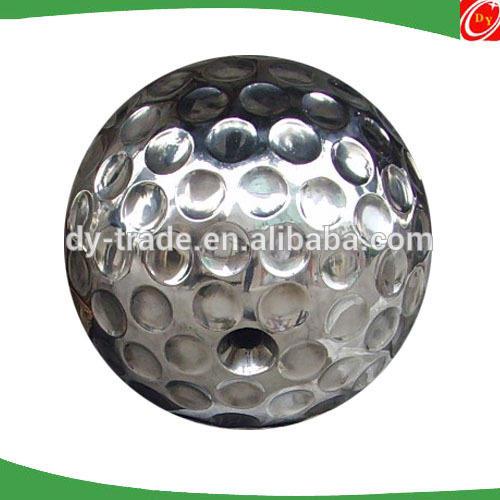 Garden stainless steel sculpture , large hollow stainless steel ball sculpture