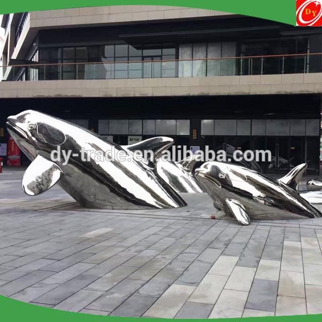 Outdoor Animal Metal Garden Decor of SS Sculpture for Custom Landscape