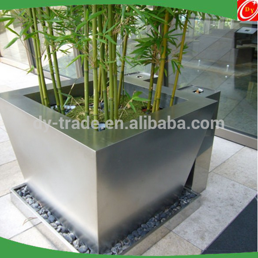 High quality stainless steel vase /planter/cube for indoor ,outdoor decoration