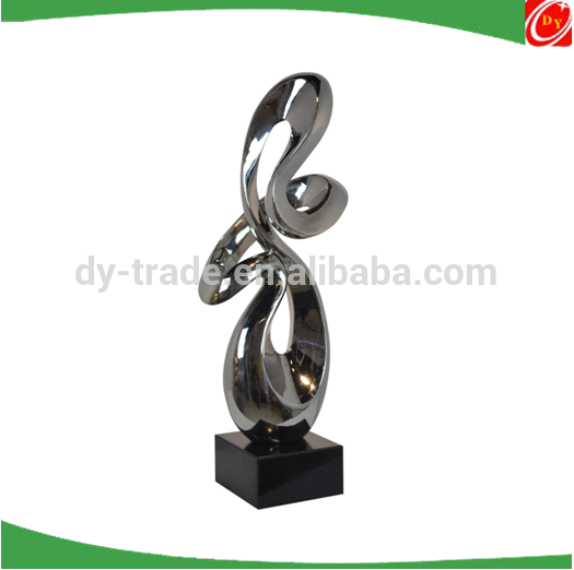 Stainless steel abstract sculpture , Fiber glass /resin sculpures for decoration