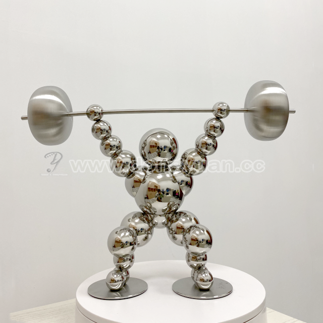 Sport Inox Sphere Ball Sculpture for Living Room Hotel Decoration