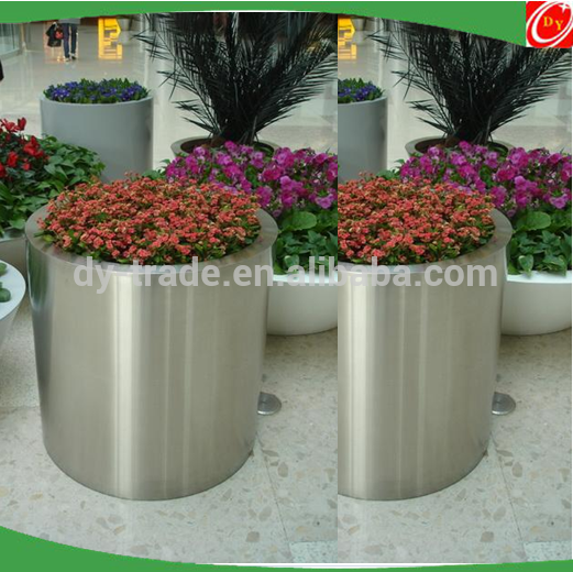 High quality stainless steel planter,round stainless steel vase