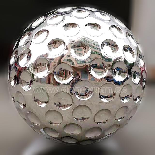 Stainless Steel Garden Reflective Ball, Metal Golf Ball for Water Feature