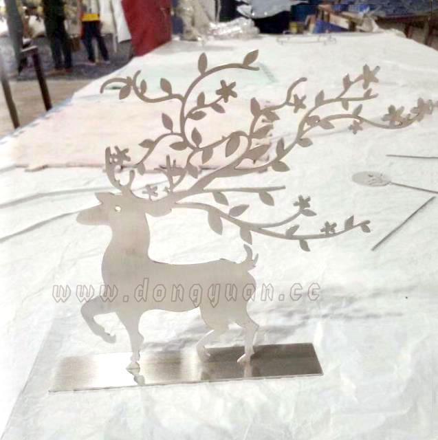 Metal Flowers CraftsDeer Animal Laser for HomeGarden Adorns