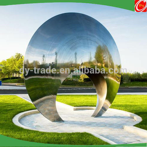 Large Outdoor Sculptures of Stainless Steel and Fiberglass