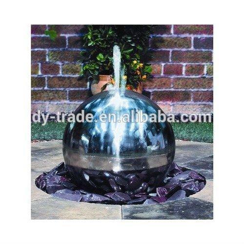 steel sphere fountain