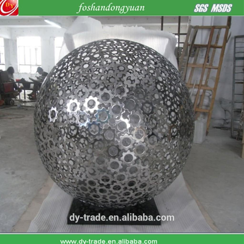 Bespoke 1000mm large stainless steel hollow spheres sculpture
