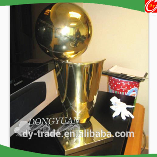 Golden Color Stainless Steel Trophy Cup, Metal World Cup Trophy for Sport Match