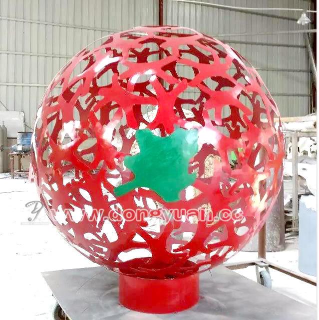 Mid Century Modern Lightolier Metal Steel Sphere withTrack Lights