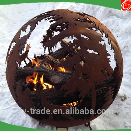 Custom Fire Pit Burning Sphere/Fire Bowl