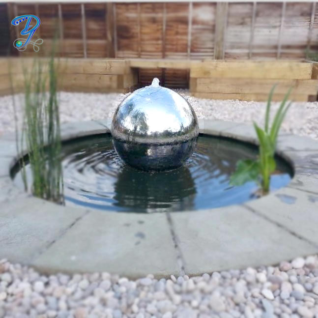 Gazing Stainless Steel Hollow Ball Waterfall Fountain